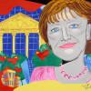 Angela Merkel trifft auf Pop Art Kunst von Tanja Playner