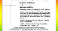 Petition für Strafrechtsnorm: Mobbing-Opfer wehren sich