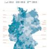 DENIC-Domainstatistik 2016: Regionale Verteilung von .de in Deutschland (FOTO)