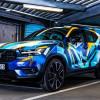 """Wer bietet mit? Volvo XC40 im Graffiti-Design by René Turrek wird für """"Ein Herz für Kinder"""" versteigert (FOTO)"""