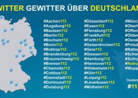 """""""Twittergewitter"""" macht Feuerwehralltag sichtbar / Bundesweite Aktion zum Notruftag unter DFV-Beteiligung ist Deutschlandtrend (FOTO)"""