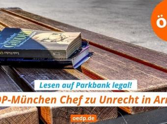 Lesen auf Parkbank ist nicht illegal – ÖDP-Politiker zu Unrecht in Arrest