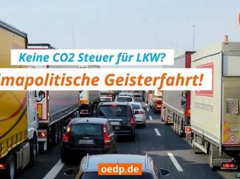 Keine CO2-Steuer für LKW? – ÖDP will mehr Güter auf Schienen